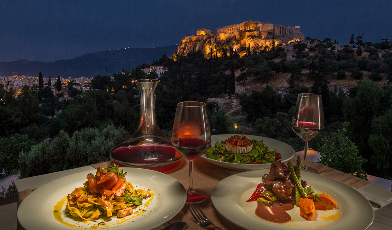 rooftop restaurant in athens - chocolat royal